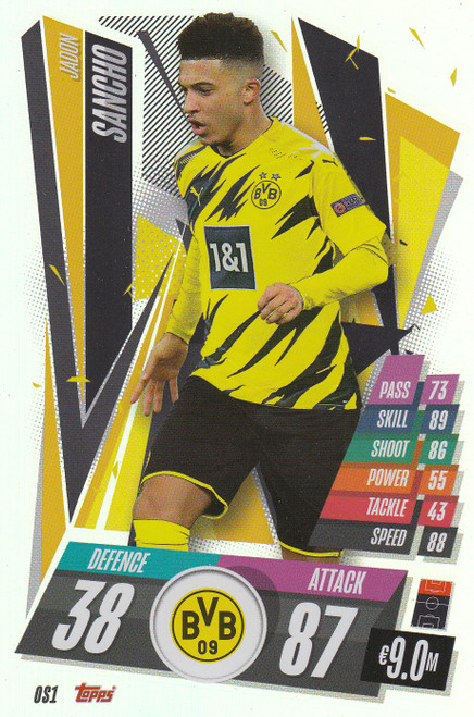 #OS1 Jadon Sancho (Borussia Dortmund) Match Attax Champions League 2020/21 XL LIMITED EDITION