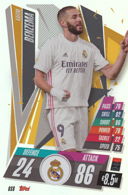 #OS8 Karim Benzema (Real Madrid CF) Match Attax Champions League 2020/21 XL LIMITED EDITION