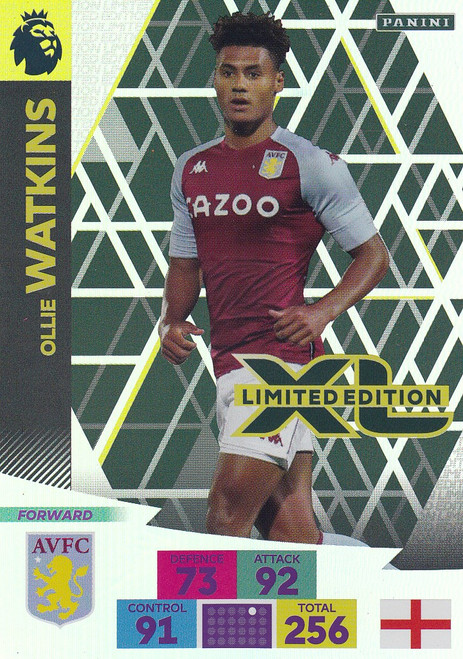 ASTON VILLA - Ollie Watkins  Adrenalyn XL Premier League PLUS 2020/21 LIMITED EDITION