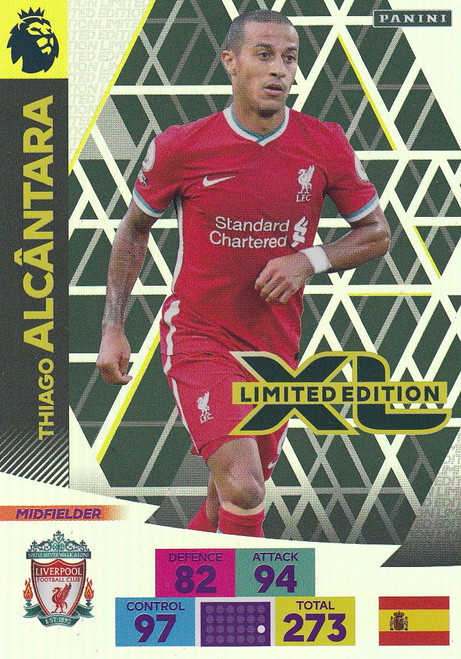LIVERPOOL - Thiago Alcantara  Adrenalyn XL Premier League PLUS 2020/21 LIMITED EDITION