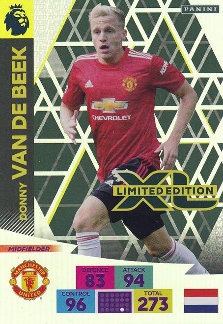 MANCHESTER UNITED - Donny Van De Beek Adrenalyn XL Premier League PLUS 2020/21 LIMITED EDITION