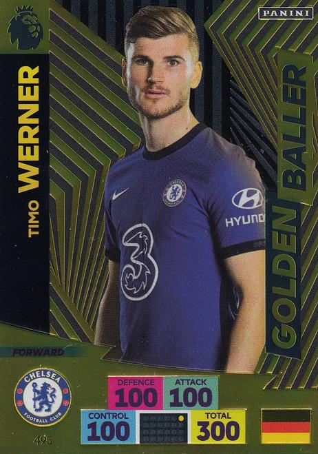 #495 Timo Werner (Chelsea) Adrenalyn XL Premier League PLUS 2020/21 GOLDEN BALLER
