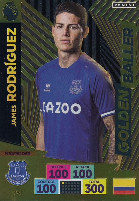 #498 James Rodriguez (Everton) Adrenalyn XL Premier League PLUS 2020/21 GOLDEN BALLER