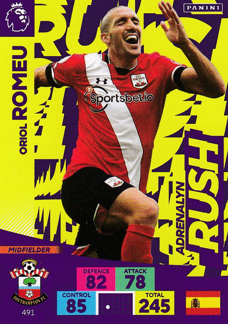 #491 Oriol Romeu (Southampton) Adrenalyn XL Premier League PLUS 2020/21 ADRENALYN RUSH