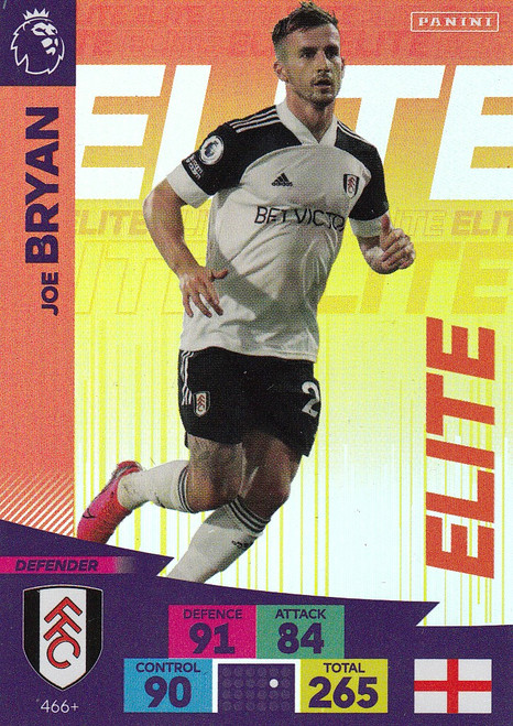 #466+ Joe Bryan (Fulham) Adrenalyn XL Premier League PLUS 2020/21 ELITES