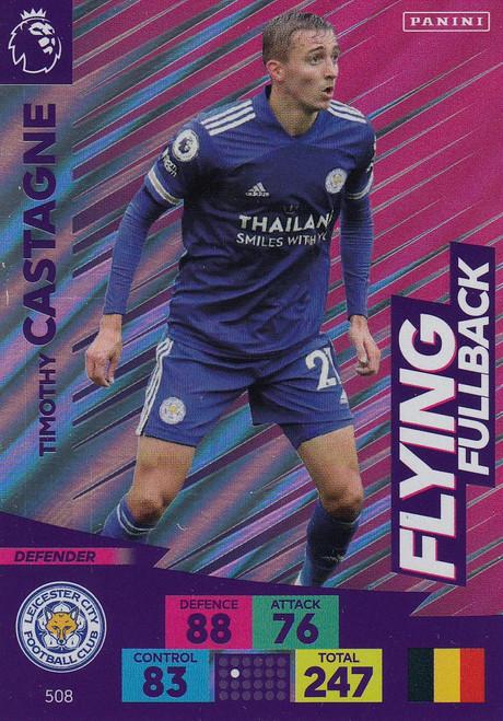 #508 Timothy Castagne (Leicester City) Adrenalyn XL Premier League PLUS 2020/21 FLYING FULLBACKS