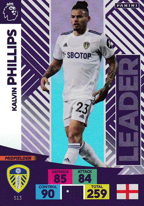 #513 Kalvin Phillips (Leeds United) Adrenalyn XL Premier League PLUS 2020/21 LEADERS