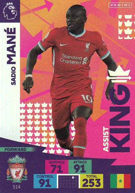 #514 Sadio Mane (Liverpool) Adrenalyn XL Premier League PLUS 2020/21 ASSIST KINGS