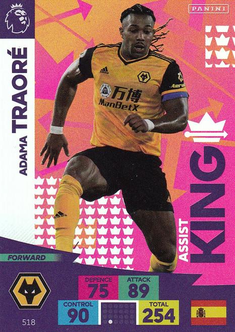 #518 Adama Traore (Wolverhampton Wanderers) Adrenalyn XL Premier League PLUS 2020/21 ASSIST KINGS