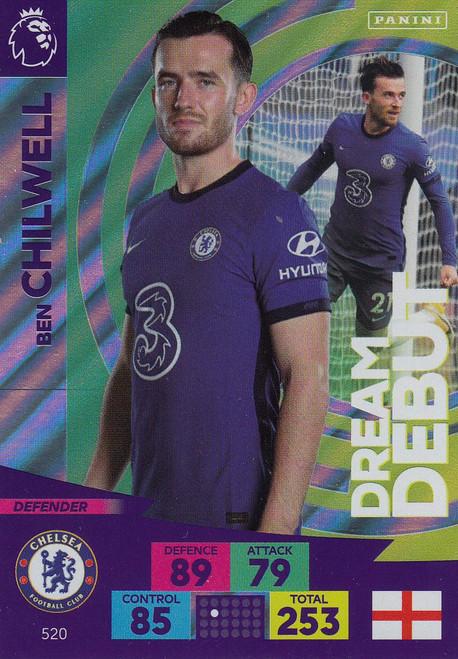 #520 Ben Chilwell (Chelsea) Adrenalyn XL Premier League PLUS 2020/21 DREAM DEBUTS