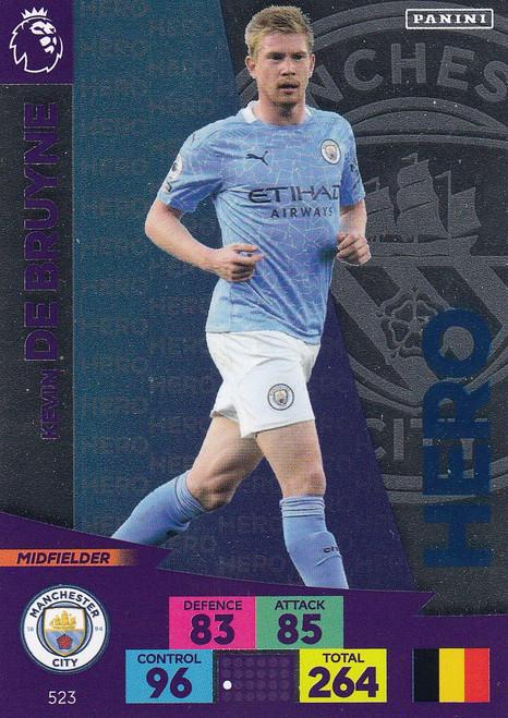 #523 Kevin De Bruyne (Manchester City) Adrenalyn XL Premier League PLUS 2020/21 HEROES