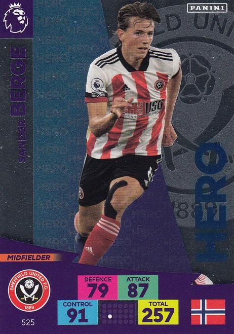 #525 Sander Berge (Sheffield United) Adrenalyn XL Premier League PLUS 2020/21 HEROES
