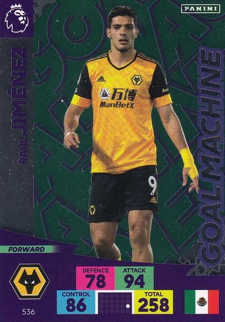 #536 Raul Jimenez (Wolverhampton Wanderers) Adrenalyn XL Premier League PLUS 2020/21 GOAL MACHINES