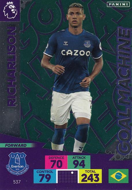 #537 Richarlison (Everton) Adrenalyn XL Premier League PLUS 2020/21 GOAL MACHINES