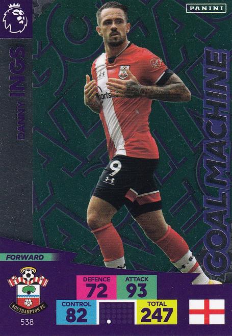 #538 Danny Ings (Southampton) Adrenalyn XL Premier League PLUS 2020/21 GOAL MACHINES