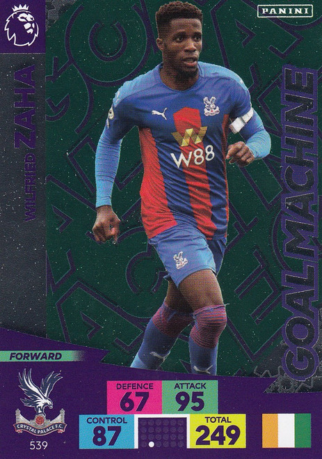 #539 Wilfried Zaha (Crystal Palace) Adrenalyn XL Premier League PLUS 2020/21 GOAL MACHINES
