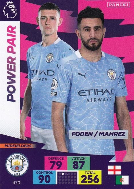 #470 Foden/ Mahrez (Manchester City) Adrenalyn XL Premier League PLUS 2020/21 POWER PAIRS