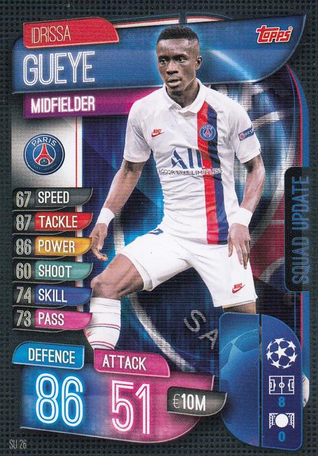 #SU26 Idrissa Gueye (Paris Saint-Germain) Match Attax EXTRA 2019/20