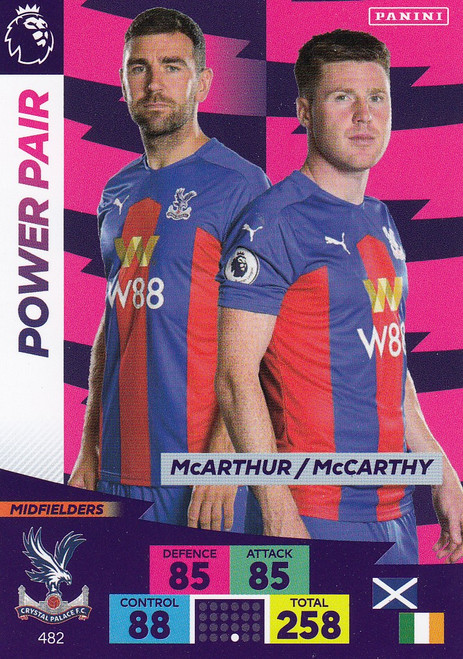 #482 McArthur/ McCarthy (Crystal Palace) Adrenalyn XL Premier League PLUS 2020/21 POWER PAIRS