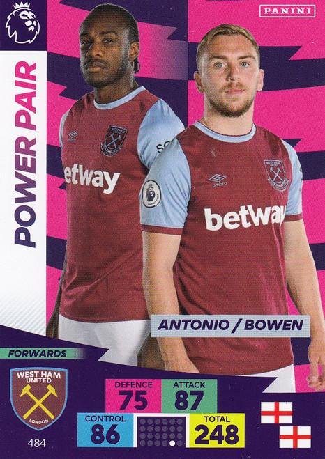 #484 Antonio/ Bowen (West Ham United) Adrenalyn XL Premier League PLUS 2020/21 POWER PAIRS