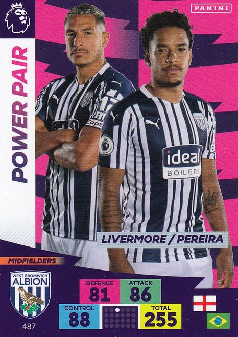 #487 Livermore/ Pereira (West Bromwich Albion) Adrenalyn XL Premier League PLUS 2020/21 POWER PAIRS