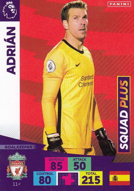 #11+ Adrian (Liverpool) Adrenalyn XL Premier League PLUS 2020/21 SQUAD PLUS