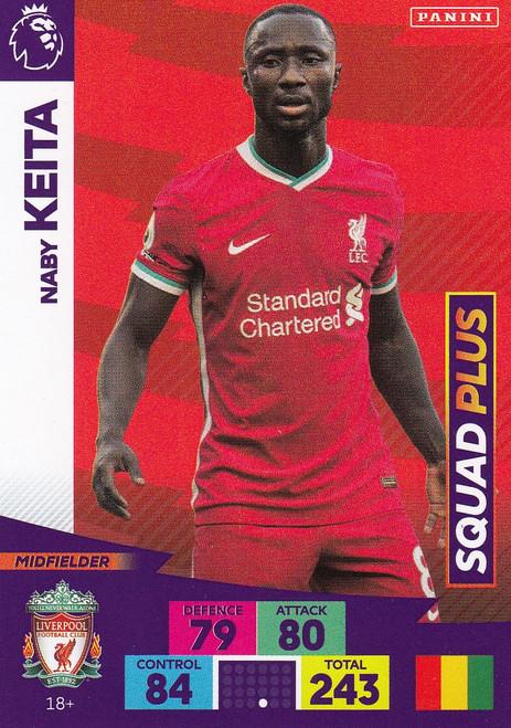 #18+ Naby Keita (Liverpool) Adrenalyn XL Premier League PLUS 2020/21 SQUAD PLUS