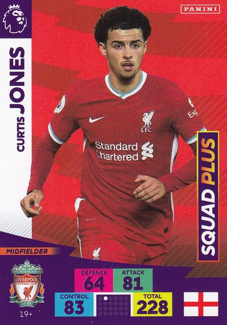#19+ Curtis Jones (Liverpool) Adrenalyn XL Premier League PLUS 2020/21 SQUAD PLUS