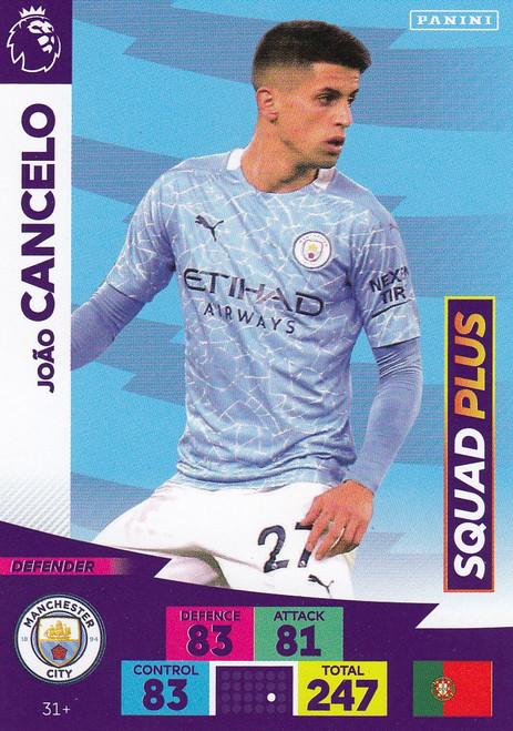#31+ Joao Cancelo (Manchester City) Adrenalyn XL Premier League PLUS 2020/21 SQUAD PLUS