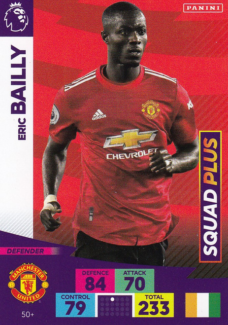 #50+ Eric Bailly (Manchester United) Adrenalyn XL Premier League PLUS 2020/21 SQUAD PLUS