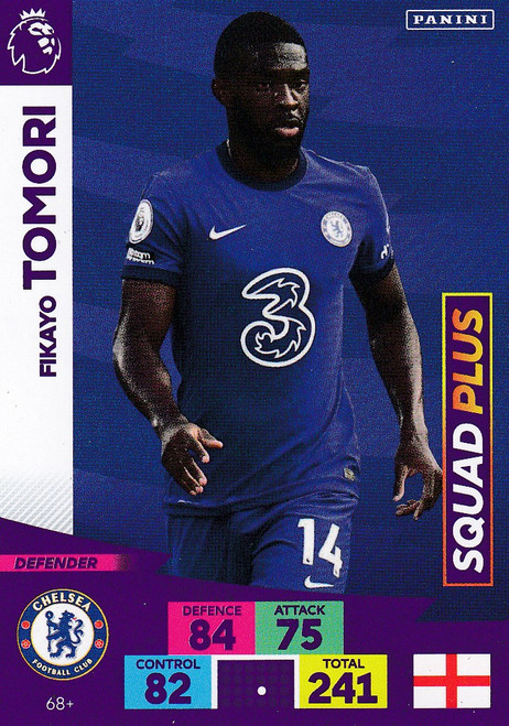 #68+ Fikayo Tomori (Chelsea) Adrenalyn XL Premier League PLUS 2020/21 SQUAD PLUS