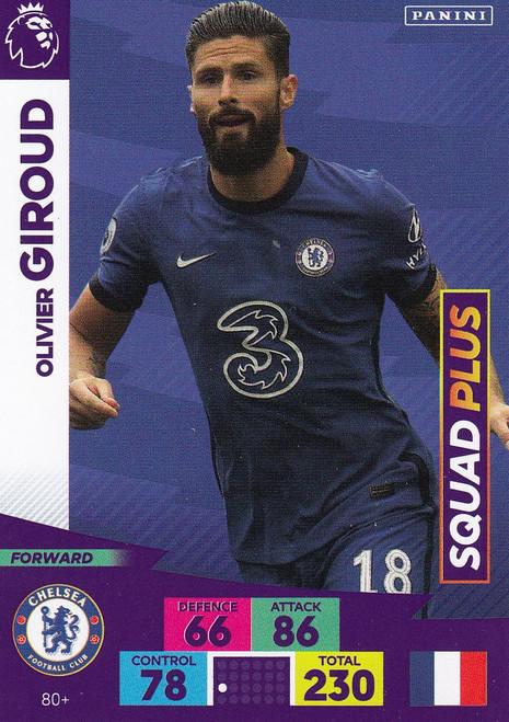 #80+ Olivier Giroud (Chelsea) Adrenalyn XL Premier League PLUS 2020/21 SQUAD PLUS