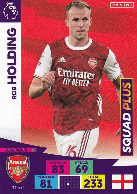 #105+ Rob Holding (Arsenal) Adrenalyn XL Premier League PLUS 2020/21 SQUAD PLUS