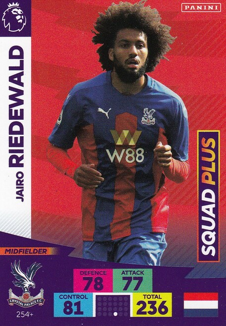 #254+ Jairo Riedewald (Crystal Palace) Adrenalyn XL Premier League PLUS 2020/21 SQUAD PLUS