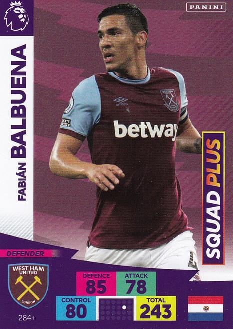 #284+ Fabian Balbuena (West Ham United) Adrenalyn XL Premier League PLUS 2020/21 SQUAD PLUS