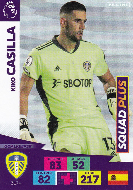 #317+ Kiko Casilla (Leeds United) Adrenalyn XL Premier League PLUS 2020/21 SQUAD PLUS