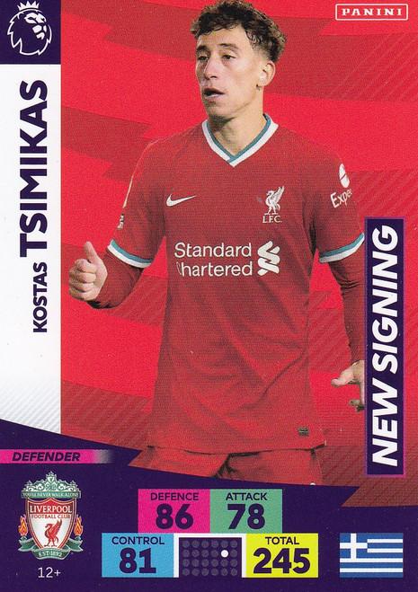 #12+ Kostas Tsimikas (Liverpool) Adrenalyn XL Premier League PLUS 2020/21 NEW SIGNINGS