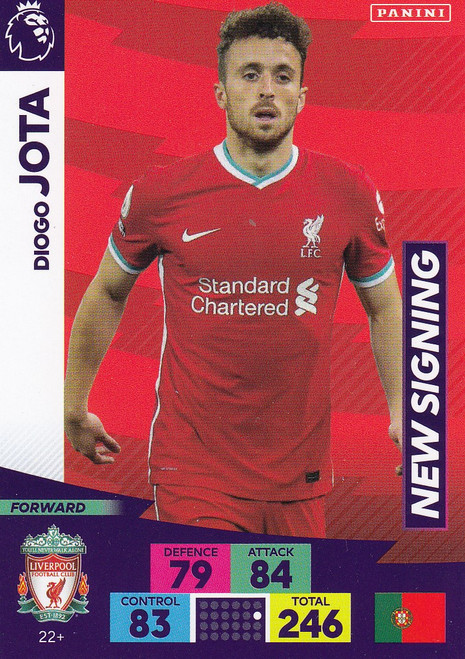 #22+ Diogo Jota (Liverpool) Adrenalyn XL Premier League PLUS 2020/21 NEW SIGNINGS