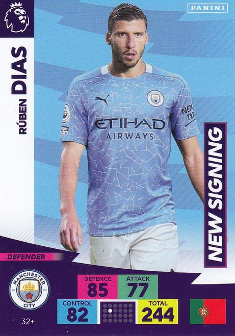 #32+ Ruben Dias (Manchester City) Adrenalyn XL Premier League PLUS 2020/21 NEW SIGNINGS