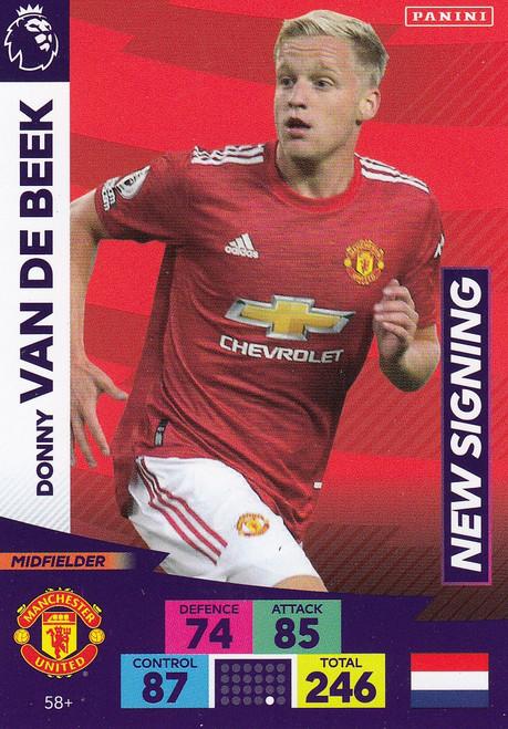 #58+ Donny Van De Beek (Manchester United) Adrenalyn XL Premier League PLUS 2020/21 NEW SIGNINGS