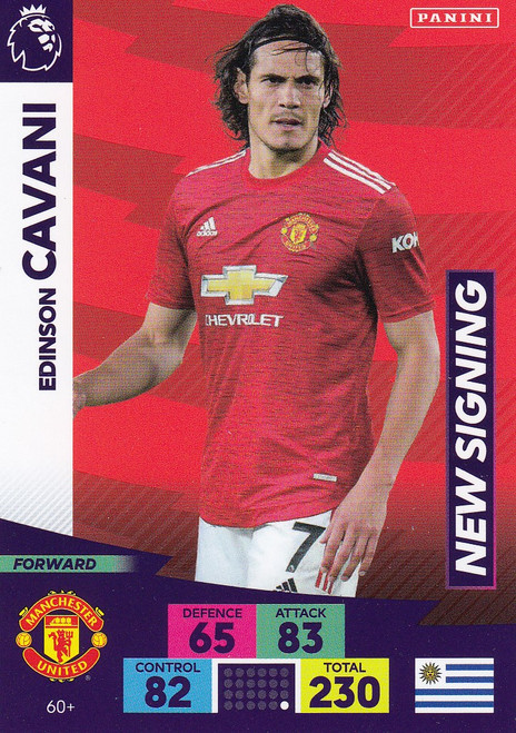 #60+ Edinson Cavani (Manchester United) Adrenalyn XL Premier League PLUS 2020/21 NEW SIGNINGS