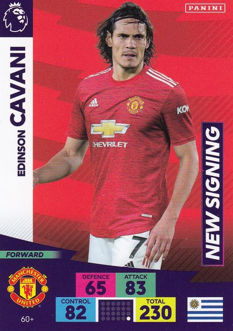#60+ Edinson Cavani (Manchester United) Adrenalyn XL Premier League PLUS 2020/21 NEW SIGNINGS