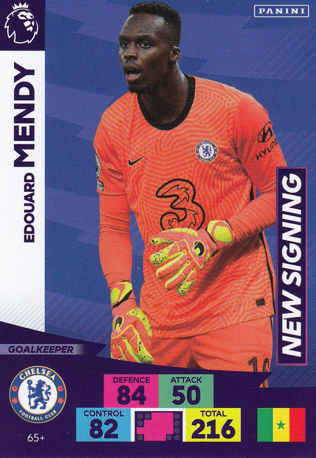 #65+ Edouard Mendy (Chelsea) Adrenalyn XL Premier League PLUS 2020/21 NEW SIGNINGS