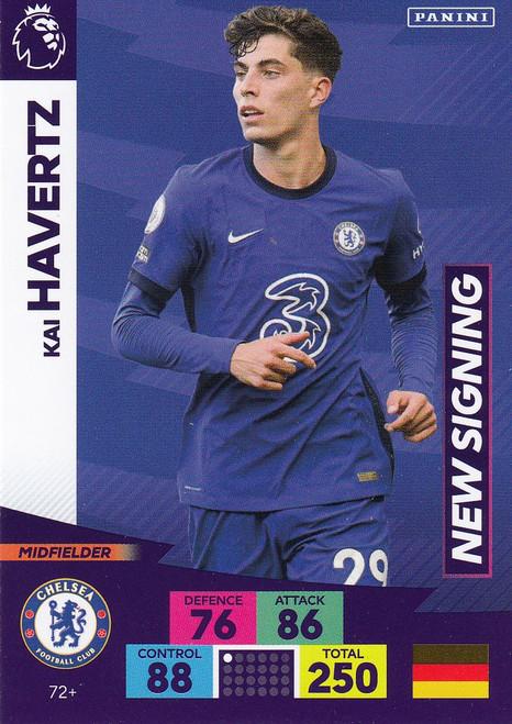 #72+ Kai Havertz (Chelsea) Adrenalyn XL Premier League PLUS 2020/21 NEW SIGNINGS