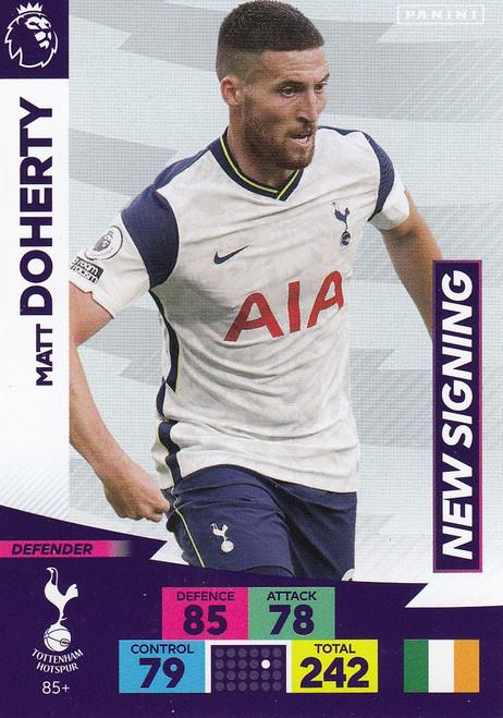 #85+ Matt Doherty (Tottenham Hotspur) Adrenalyn XL Premier League PLUS 2020/21 NEW SIGNINGS