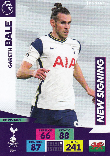 #96+ Gareth Bale (Tottenham Hotspur) Adrenalyn XL Premier League PLUS 2020/21 NEW SIGNINGS