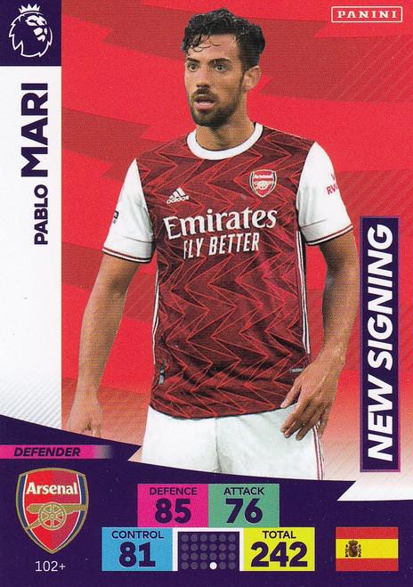 #102+ Pablo Mari (Arsenal) Adrenalyn XL Premier League PLUS 2020/21 NEW SIGNINGS