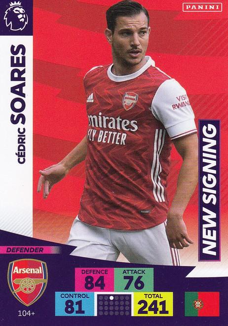 #104+ Cedric Soares (Arsenal) Adrenalyn XL Premier League PLUS 2020/21 NEW SIGNINGS