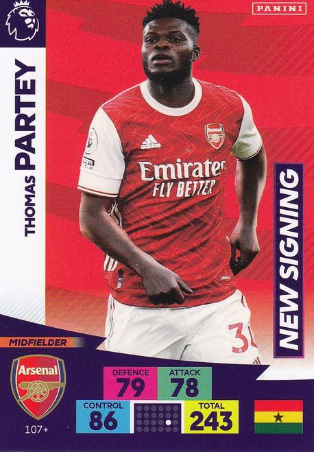 #107+ Thomas Partey (Arsenal) Adrenalyn XL Premier League PLUS 2020/21 NEW SIGNINGS