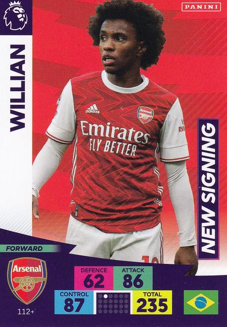 #112+ Willian (Arsenal) Adrenalyn XL Premier League PLUS 2020/21 NEW SIGNINGS